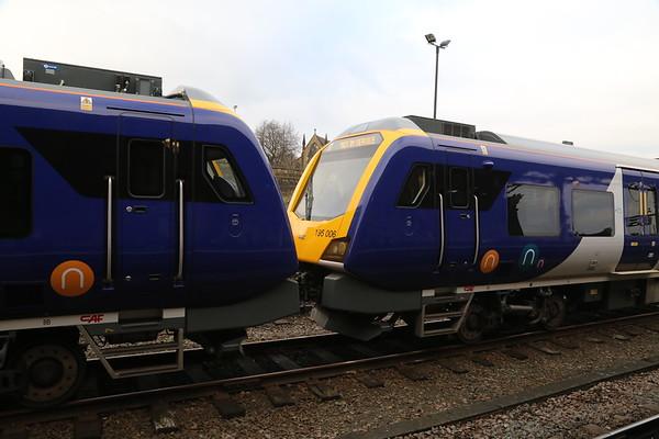 195005 and 195006 at Huddersfield