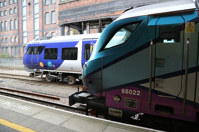 68022 and 195005 at Huddersfield