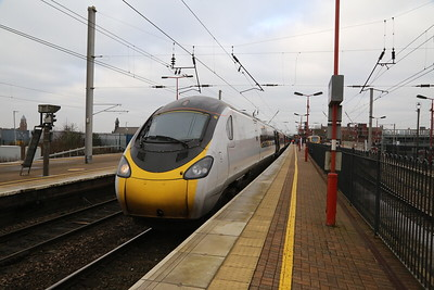 390148 9M52 to Euston at Wigan NW