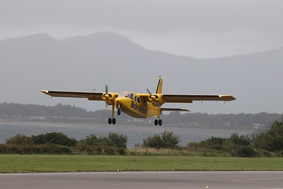 G-HEBS departs Oban International Airport