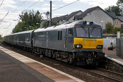 92014 5B26 sleeper empties to Polmadie at Kirknewton 1st September 2020