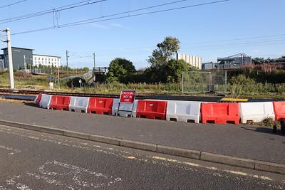 New ped crossing on tram line at Edinburgh Park