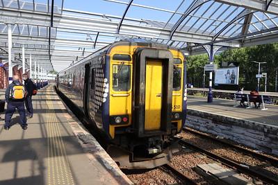 156510 on arrival at Kilmarnock