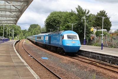 M43046 leads 5Z47 Kilmarnock - Crewe through Dumfries 43E 27th June 2021