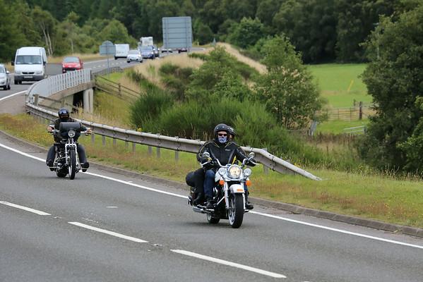 A9 Bruar 'Thunder in the Glens' convoy