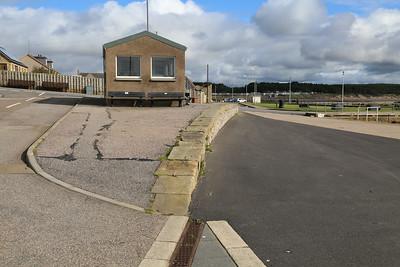 Burghead harbour loading dock