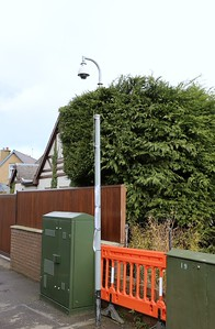 Orchard Place.  This CCTV camera is within a private dwelling and appears to cover the road outside.  Odd.