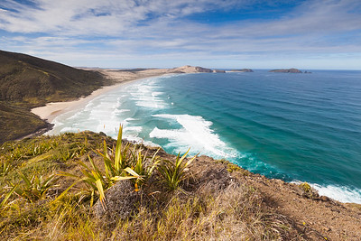 Cape Maria Van Diemen and Werahi Beach viewed from Cape Reinga