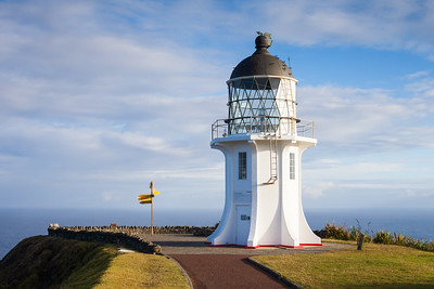Cape Reinga lighthouse and start of Te Araroa Trail