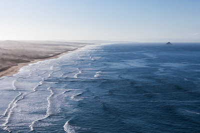 Ninety Mile Beach/Te Oneroa-a-Tōhē and Matapia Island from Scott Point