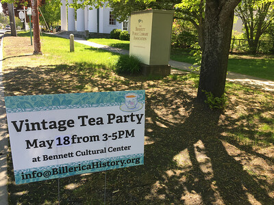 The Billerica Historical Society held its fourth annual Vintage Tea on May 18. Photo by Mary Leach