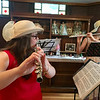 Billerica students who are part of a group called Flutes, Inc., provided musical entertainment during the tea. Photo by Mary Leach