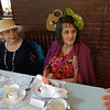 Roz Bartlett  and Jean Pomerleau of Billerica got into the spirit of the Vintage Tea by wearing hat and fascinator. Photo by Mary Leach