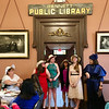 (l to r) Hannah O'Neil, Hannah Burns, Karina Yee,  and Kate Bowen, all of Billerica, took a bow after their flute performance at the Billerica Historical Society's Vintage Tea fundraise. Photo by Mary Leach