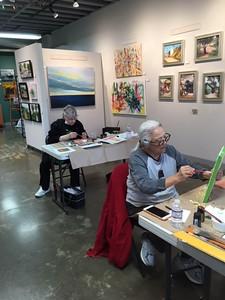 Gold Leaf Workshop at Destination Art, Torrance, CA