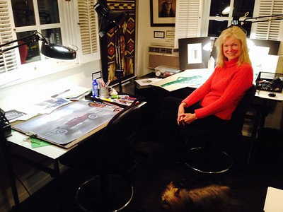 Morgan in her Teaching Studio.