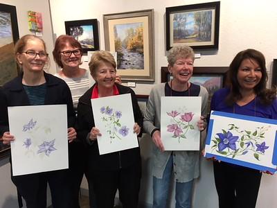Botanical Illustration Class at Destination Art, Torrance, Ca