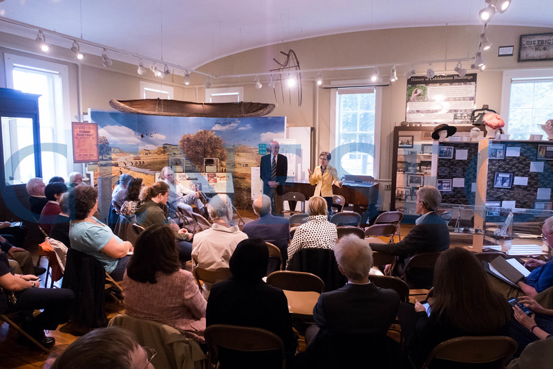 Mayor Richard Hatheway and President Denise Battles host the 3rd annual community chat at the Livingston County Museum. / Photos by Keith Walters