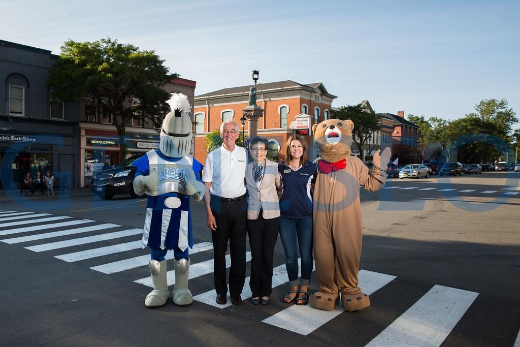 Fall 2017 Main Street Bash KW Mayor  Richard (Dick) Hatheway, President Denise Battles and Student Ambassador Sarah Jane Phillips
