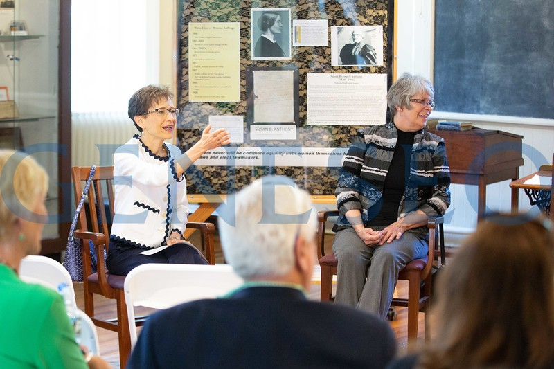 Recently-elected Geneseo Mayor Margaret Duff and SUNY Geneseo President Denise Battles hosted a community chat on May 23.