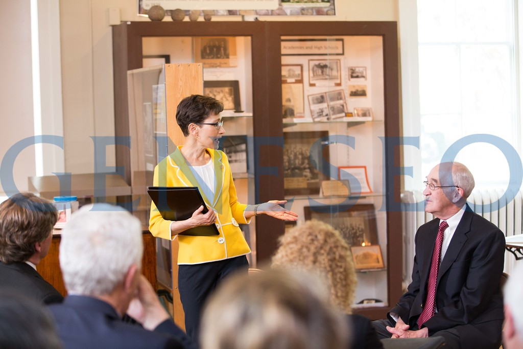 community chat between village and college at the livingston county historical museum
