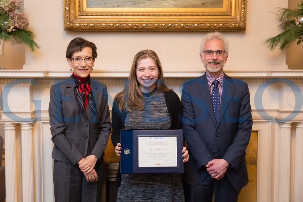 2016 Presidential Scholars Reception Nicole Eras