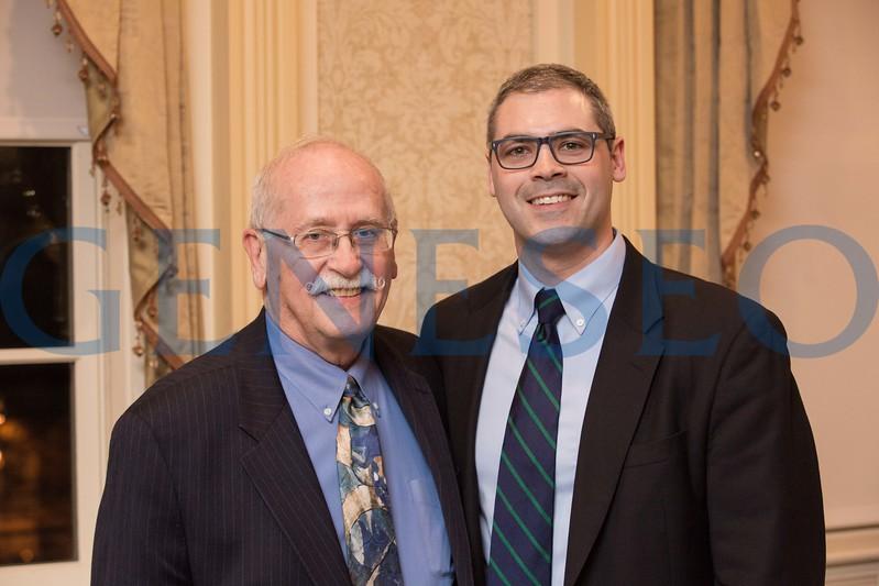 2017 Volunteer and Service Awards Dinner Tom Matthews and George Sullivan