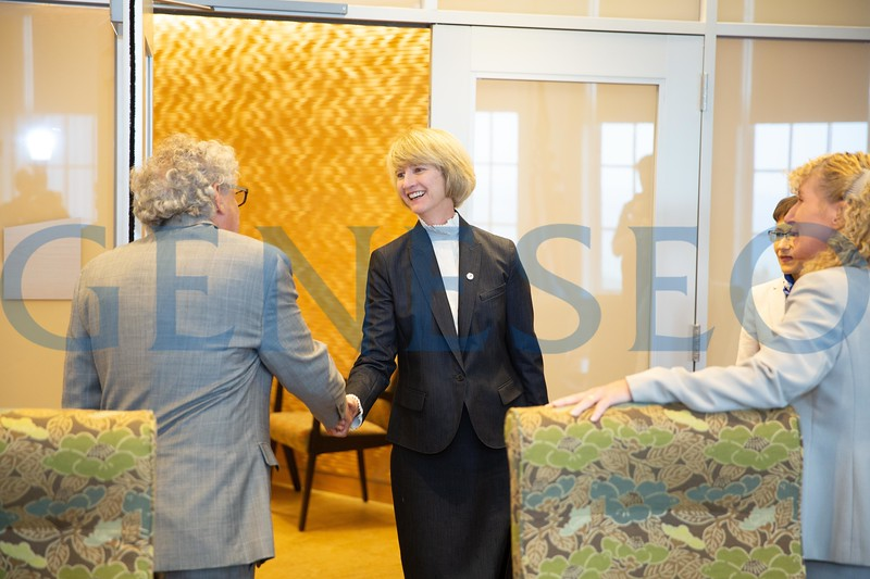 SUNY chancellor Kristina M. Johnson visits SUNY Geneseo, August 14th, 2018. Photos by Keith Walters '11