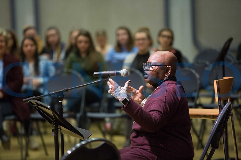 Composer and singer Ysaÿe Barnwell '67, '68 will join Geneseo's celebration of the life and legacy of Martin Luther King Jr. by conducting a Community Sing on Tuesday, February 27 at 6 p.m. in the College Union Ballroom. The sing is free and open to the public.