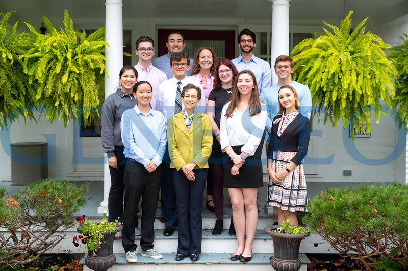 Back row left to right: Jimmy Connolly, Scott Williams, Provost Stacey Robertson, Elijah Freiman, MIddle Row left to right: Xiane Smith, Sean McAneny, Shannon Curley, John Wilson, Front row left to right: Emily Toy, President Denise Battles, Katherine Cotten, Victoria Cooke