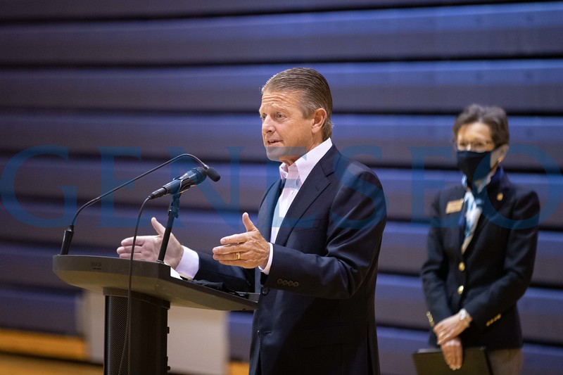 Senator Patrick Gallivan spekas at the Savannah Williams Memorial Highway dedication