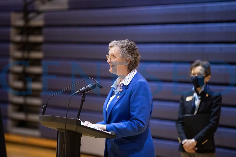 Assemblywoman Marjorie Byrnes speaks at the Savannah Williams Memorial Highway Dedication event.