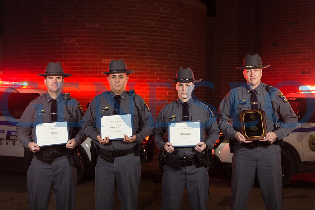 Officer Andrew Phelps, Gregory Fowler, David Forrester, Lieutenant David Schwan