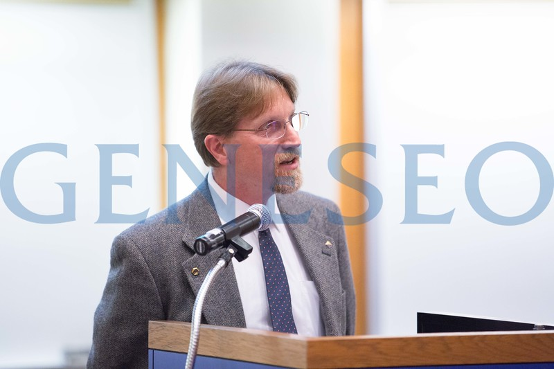 Eric Helms at the President's Sustainability Lecture
