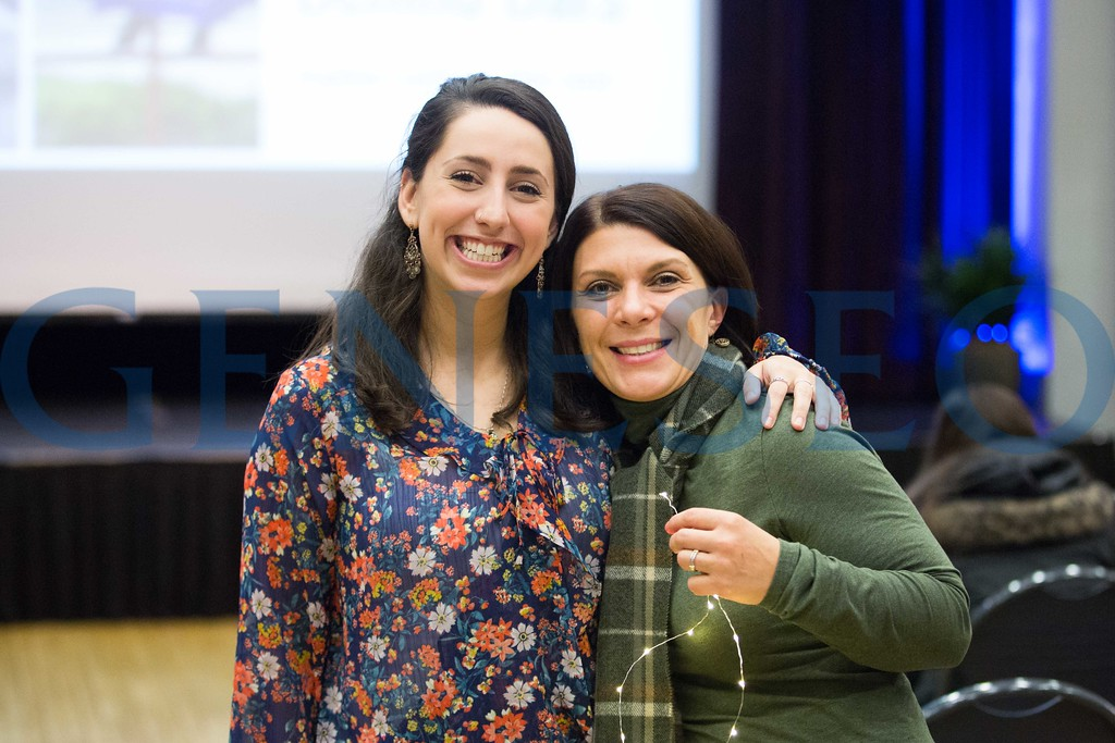 Sophia Garber talks at the all college hour lecture series about her experience riding from coast to coast in the 4k for cancer, sponsored by the ulman cancer fund for young adults