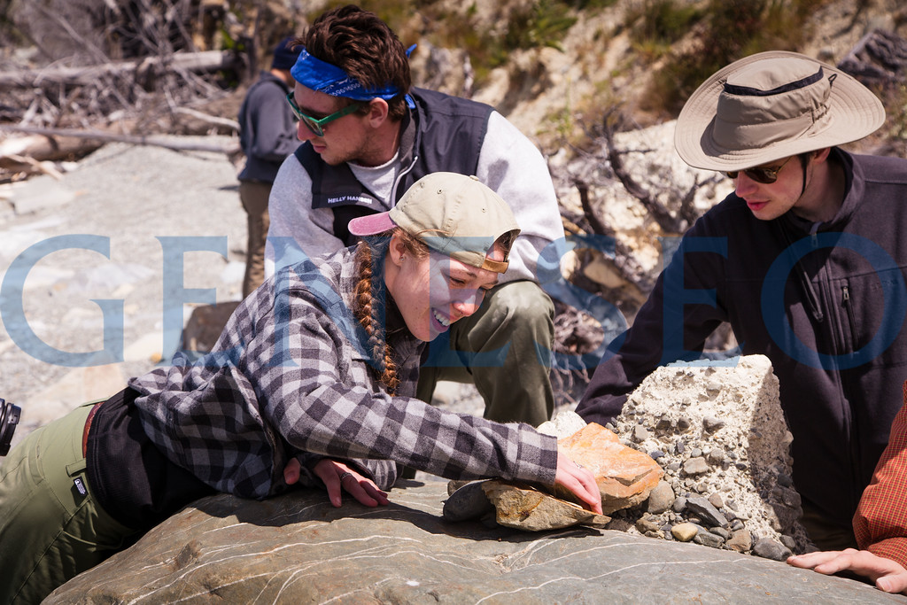 Geology field studies group explores Lake Pukaki on the south island