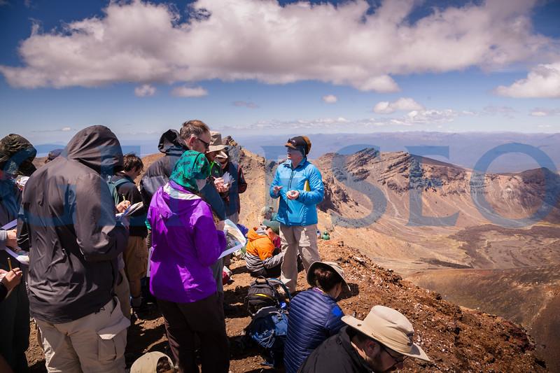 Geology field studies group explores the Tongariro Alpine Crossing