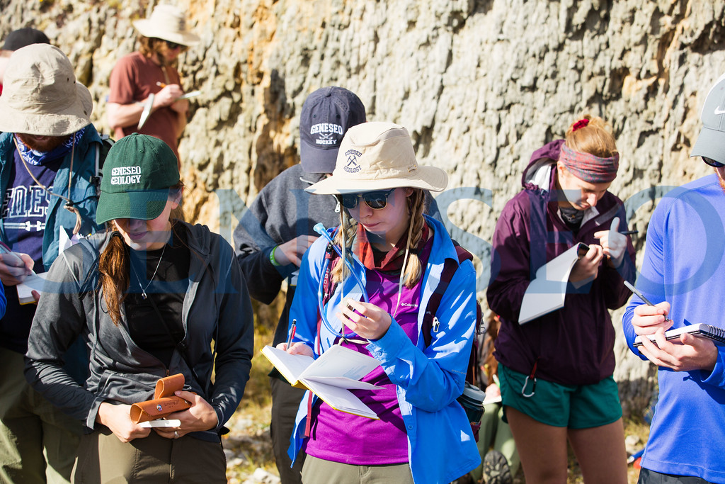 Geology field studies course analyzing and learning about Hogbacks just outside of Springfield New Zealand.