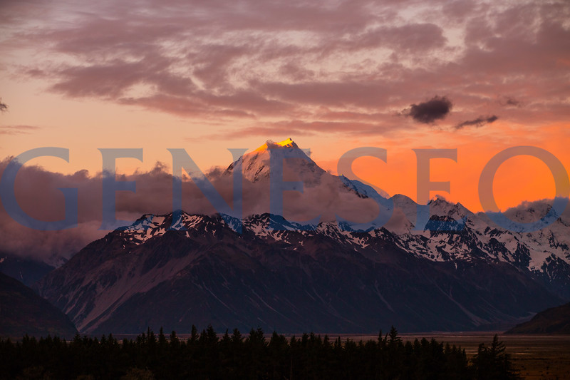 Mount Cook at sunset