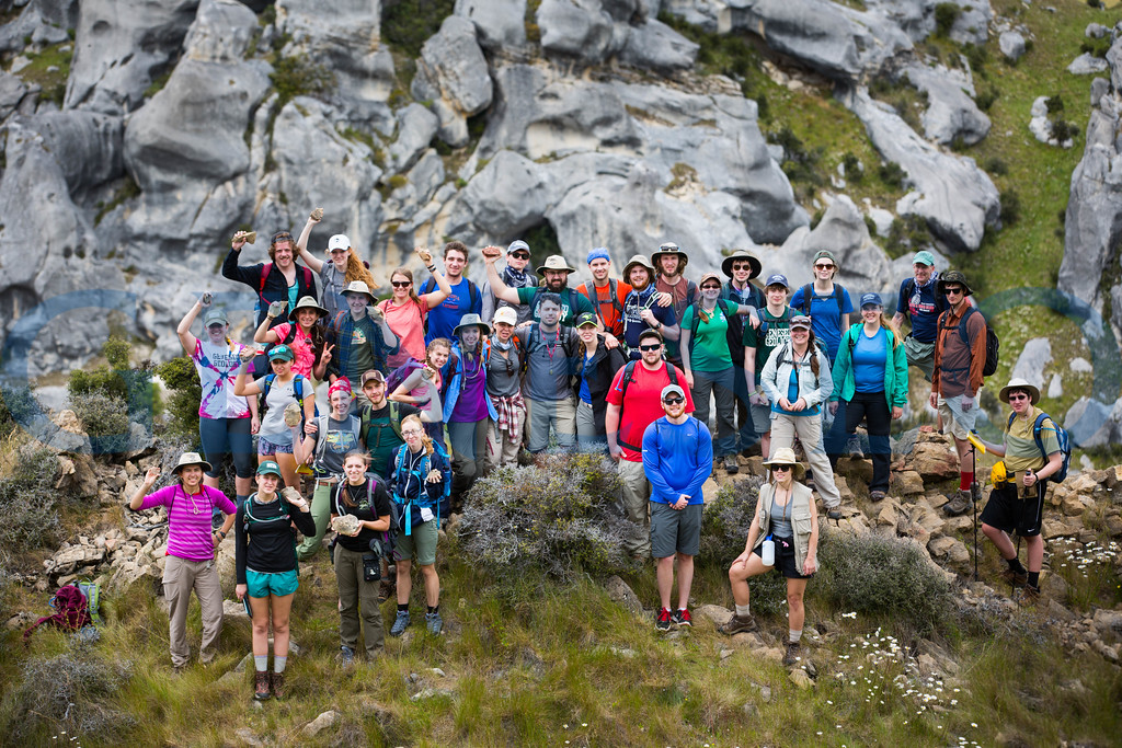 Geology field Studies Course hikes and learns about Castle Hill on the southern island of New Zealand.