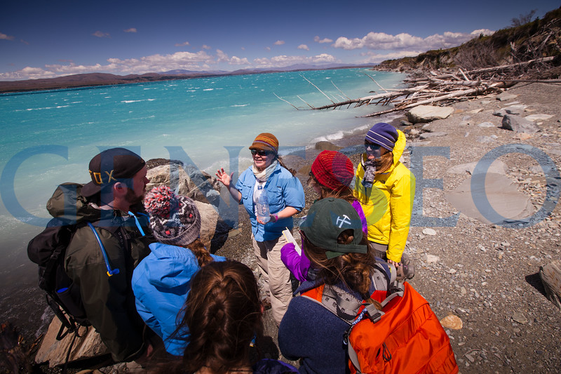 Geology field studies group explores Lake Pukaki on the south island