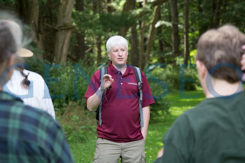Jim Kernan speaks at a Letchworth Nature Center talk on invasive species Spring 2017