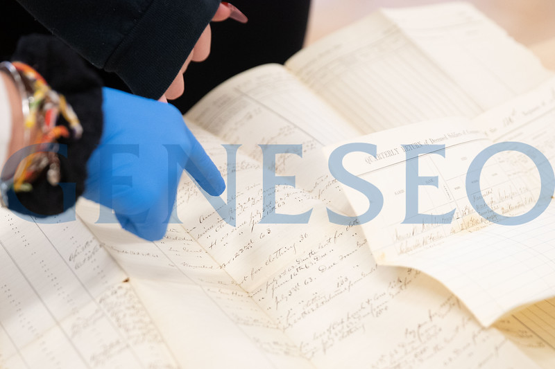 Livingston County Historical Society materials shown to HIST 101 students to examine and explore