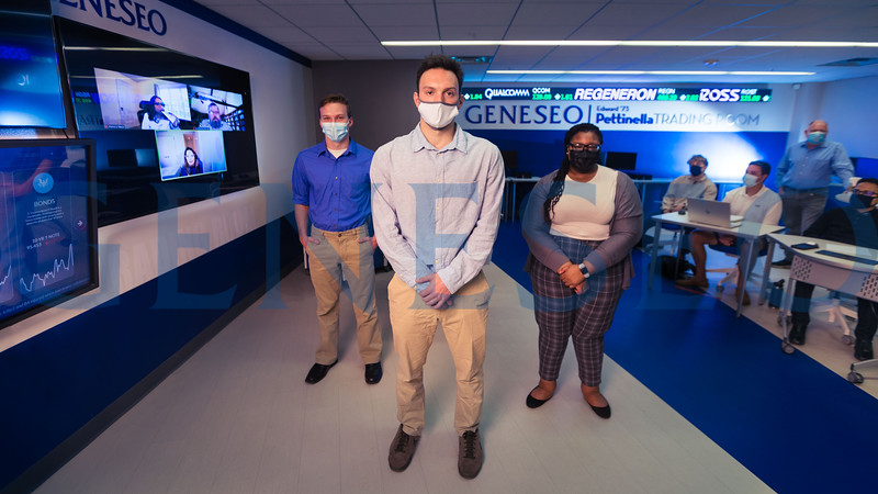 Blue shirt --  Ben Ludlow (22)<br /> White shirt -- Sean McClellan (22)<br /> Sweater -- Kya Primm (23)