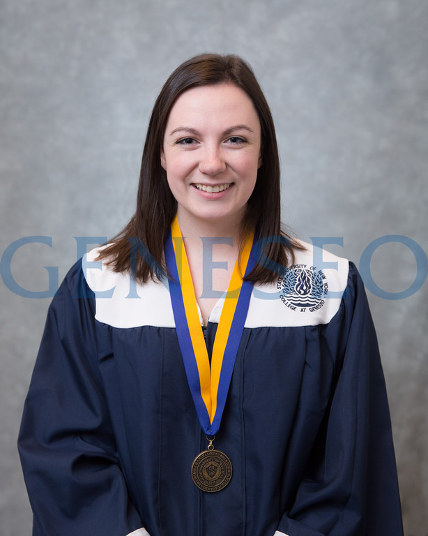 Spring 2018 Kaitlin Pfundstein Chancellor Award portrait cap and gown