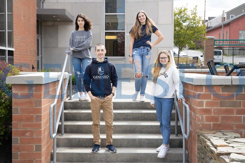 Left to right: Mika Swanson '21, Thomas Griffin '22, Annabella Scarano '21, Hannah Dougherty '22