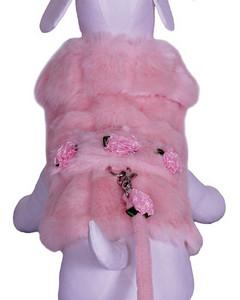 Harness Dog Jacket Description:  Little Rose Bud Dog Jacket Item Number # CC Little Rose Bud
