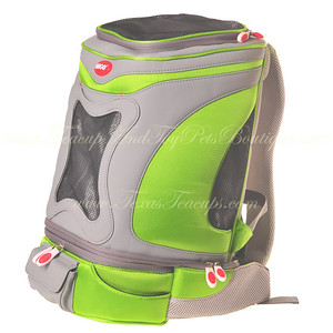 ARGO ARGO Action Petpack Carrier Kiwi Green SIZE: Small STYLE: AC60376XS COLOR: Kiwi Green PRICE: $150.00 Pet Supply Coupons also available on our main web site.  PET-A-GO-GO Specifically Engineered for Active Dogs and Pet Parents on the Move  The Only Sports Carrier to Cater to Pet AND Owner  Hands-Free Portability - Petpack is a stylish pet carrier for small dogs and cats. It is also a backpack so you can go about your busy day, confident your cherished pet is safe and comfortable. Unlike all other pet carriers that must be carried or slung over your shoulder, Petpack offers completely hands free mobility.   Exclusively from the Argo Sport Pets Line, this backpack pet carrier is totally trendy and unbelievably lightweight. Constructed of light yet rugged 840 denier nylon fabric, Petpack also has a dual mesh window for your pet to enjoy the view and rest in complete comfort. High quality padded shoulder straps make Petpack the healthy choice for transporting your pooch, reducing neck strain and back pain associated with traditional strap carriers.   Modular Convenience – The Petpack carrier comes complete with a removable waist or fanny pack to carry doggie treats, other small essentials and a front pouch specifically for your cell phone. What could be more convenient? Offered in four fabulous colors (petal pink, tango orange, kiwi green, berry blue), choose the shade that best matches your pup's individuality.  Taking your pet along to the beach, for a hike or into the city is easy and hassle-free now – thanks to Petpack! The strong denier nylon exterior is made to last and can be cleaned quickly simply by rinsing with water. The ventilated carrier keeps your pet secure and calm; the padded interior provides a comfy haven.