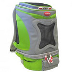 "ARGO ARGO Action Petpack Carrier Kiwi Green SIZE: Small STYLE: AC60376XS COLOR: Kiwi Green PRICE: $150.00 Pet Supply Coupons also available on our main web site.  Detailed Product Information:  * Innovative, portable design for small pets * Quality made from 840 denier nylon fabric * Detachable fanny pack with extra compartment * Dual layer mesh window for ventilation and pet visibility * Easy-Out! Large top draw string opening for quick access * Ultra lightweight design – comfortable for pet parents too! * Easy to clean padding   Actual Measurements: 10.25"" L x 12"" W x 14.5"" H Net weight: 2.89 lbs."