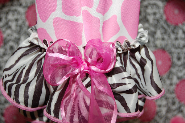Groovy Pink Giraffe & Zebra Dress